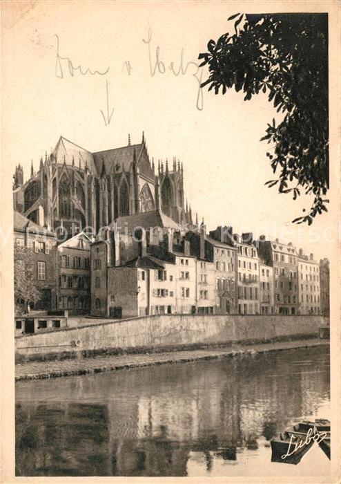 AK / Ansichtskarte Metz Moselle Kathedrale vom Regierungsplatz Kat. Metz