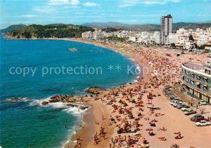 AK / Ansichtskarte Lloret de Mar Vista general de su gran playa Strand Kat. Costa Brava Spanien