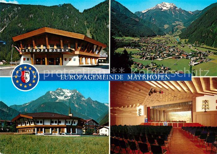 AK / Ansichtskarte Mayrhofen Zillertal Offizielle Erinnerungskarte zur Einweihung des Veranstaltung  und Kongresszentrums Europahaus Alpenpanorama Kat. Mayrhofen
