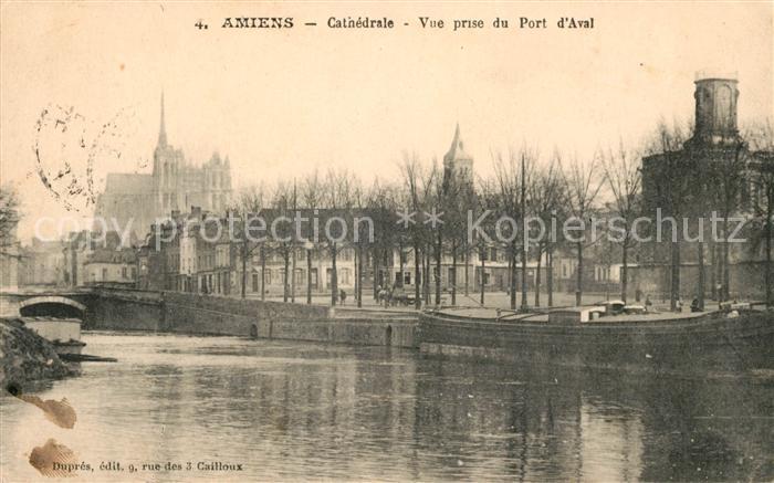 AK / Ansichtskarte Amiens Cathedrale Vue prise du Port d`Aval Kat. Amiens