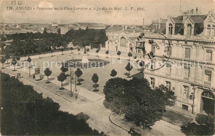 AK / Ansichtskarte Angers Place Lorraine et Jardin du Mail Kat ...