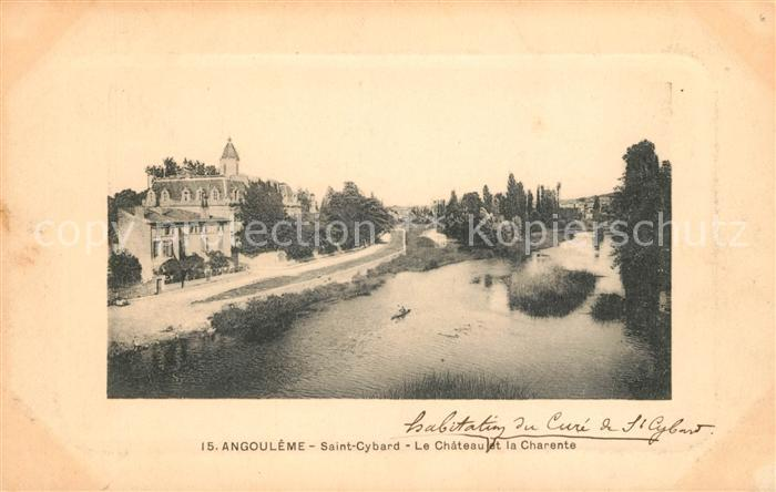 AK / Ansichtskarte Angouleme Saint Cybard Chateau et Charente Kat. Angouleme