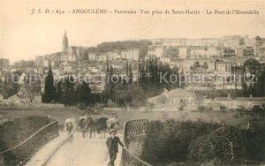 AK / Ansichtskarte Angouleme Vue prise de Saint Martin Pont de l`Hirondelle Kat. Angouleme
