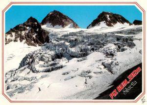 AK / Ansichtskarte Silvretta Grosser Piz Buin Kleiner Buin Eisbruch Ochsentaler Gletscher Gebirgspanorama Kat. Silvretta