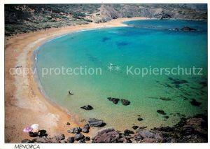 AK / Ansichtskarte Menorca Bucht Strand Kueste Fliegeraufnahme Kat. Spanien