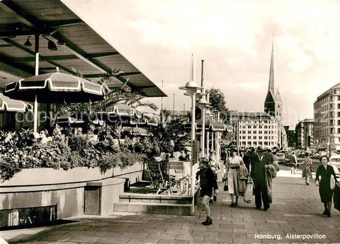 AK / Ansichtskarte Hamburg Alsterpavillon Kat. Hamburg