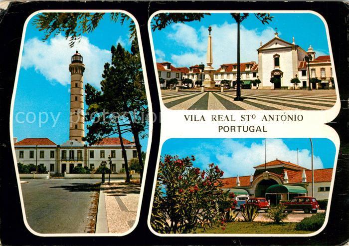 AK / Ansichtskarte Vila Real de Santo Antonio Farol Praca Marques de Pombal Fronteira  Kat. Vila Real de Santo Antonio