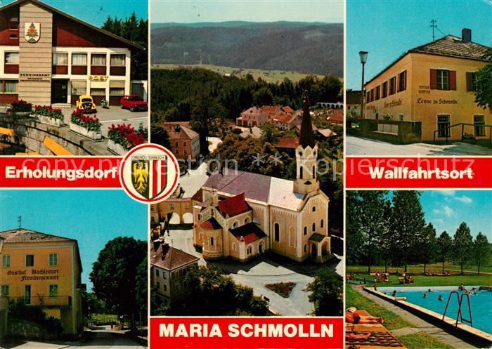AK / Ansichtskarte Maria Schmolln Wallfahrtskirche Gemeindeamt  Kat. Maria Schmolln