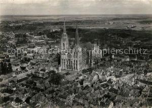 AK / Ansichtskarte Chartres Eure et Loir Vue aerienne La Cathedrale Kat. Chartres
