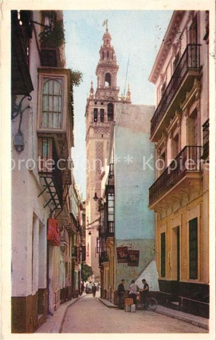 AK / Ansichtskarte Sevilla Andalucia La Giralda desde la Calle de Placentines Kat. Sevilla