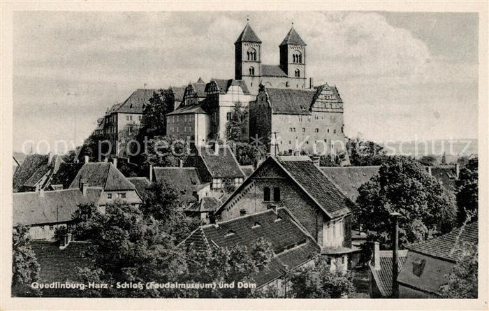 AK / Ansichtskarte Quedlinburg Schloss Feudalmuseum und Dom Kat. Quedlinburg