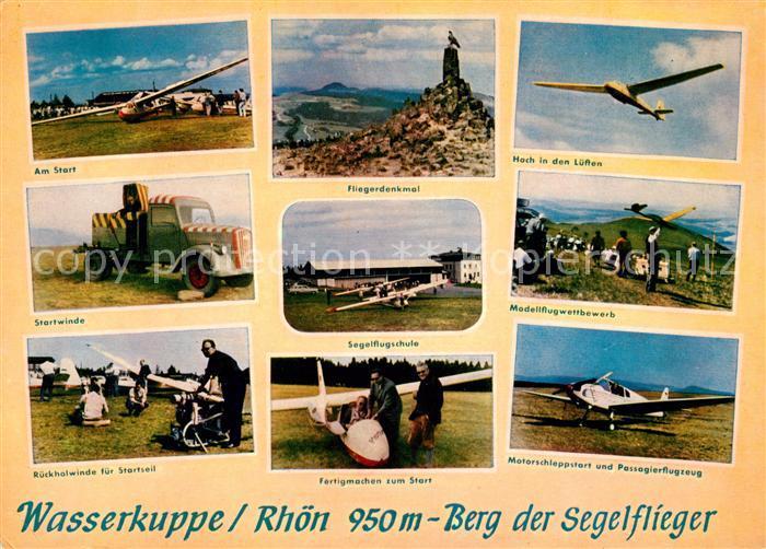 AK / Ansichtskarte Wasserkuppe Rhoen Berg der Segelflieger Fliegerdenkmal Kat. Poppenhausen (Wasserkuppe)