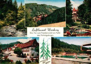 AK / Ansichtskarte Wirsberg Teilansichten Luftkurort Freibad Fichtelgebirge Kat. Wirsberg