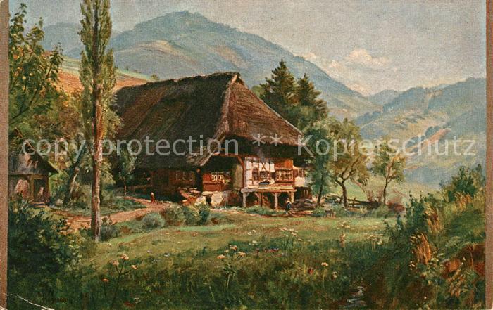 AK / Ansichtskarte Hasemann W. Schwarzwald Bauernhaus Kat. Schwarzwaldkuenstler