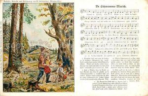 AK / Ansichtskarte Liederkarte Dr Schwamma Marsch Kat. Musik