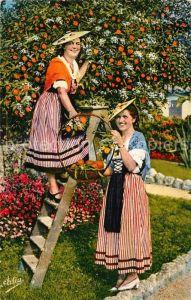 AK / Ansichtskarte Orangen Oranges Nicoises cueillant des Oranges Cote d Azur  Kat. Landwirtschaft