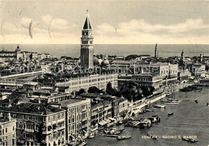 AK / Ansichtskarte Venezia Venedig Bacino San Marco Kat.