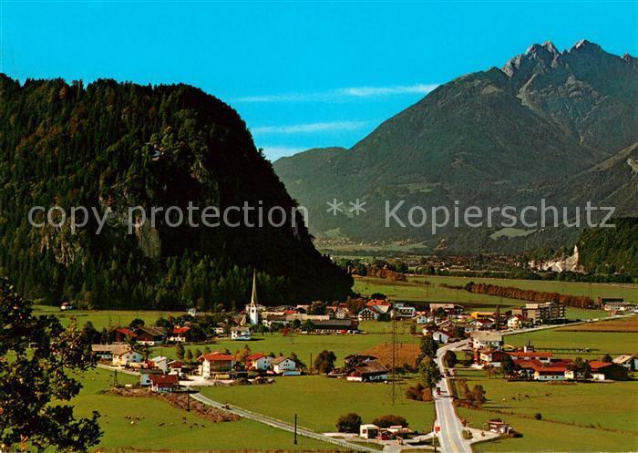 AK / Ansichtskarte Strass Zillertal mit Maria Brettfall und Fiechterspitz Kat. Strass im Zillertal