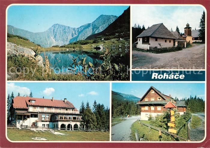 AK / Ansichtskarte Rohace Zuberec Volovec a Ostry Rohac Skanzen Chata v Oraviciach Chata nazverovke