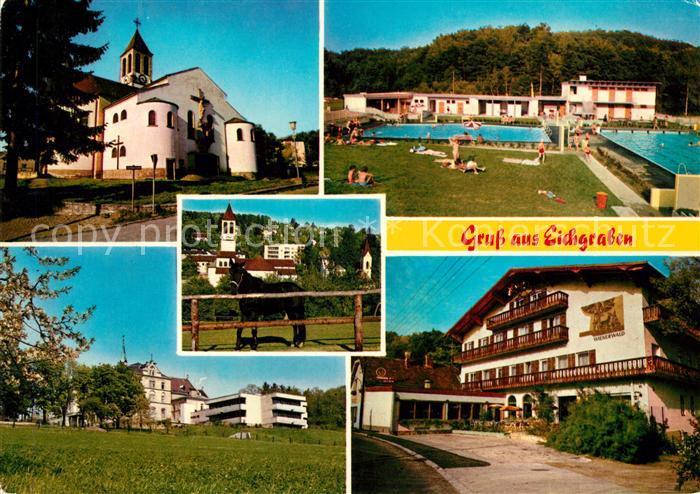 AK / Ansichtskarte Eichgraben Schwimmbad Kirche Kat. Eichgraben