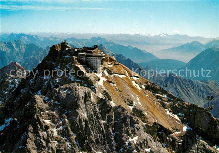 AK / Ansichtskarte Zugspitze oesterreichische Bergstation Fliegeraufnahme Kat. Garmisch Partenkirchen