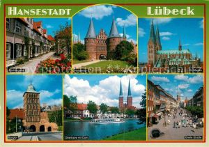 AK / Ansichtskarte Luebeck St. Marien Breite Strasse Burgtor Holstentor Kat. Luebeck