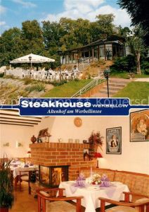 AK / Ansichtskarte Altenhof Werbellinsee Steakhouse Werbellow Gaststube