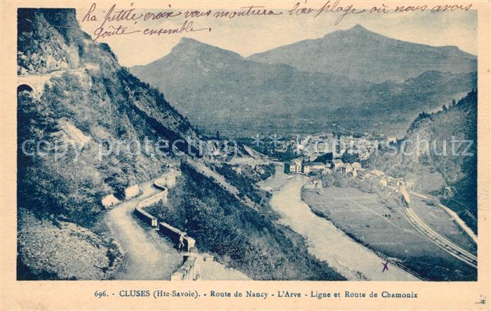 AK / Ansichtskarte Cluses Route de Nancy Arve Ligne et Route de Chamonix Kat. Cluses