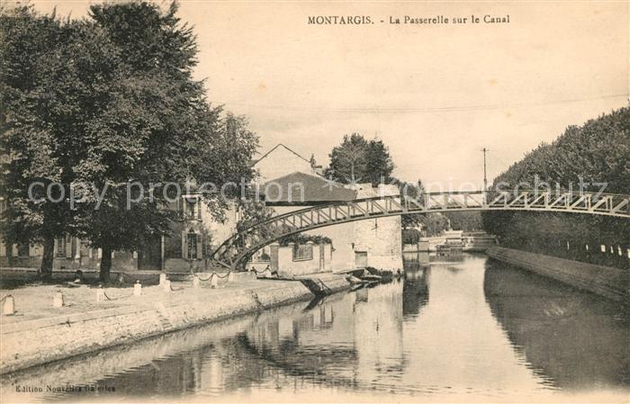 AK / Ansichtskarte Montargis Loiret Le Passerelle sur le Canal Kat. Montargis