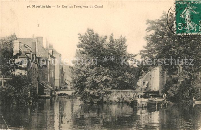 AK / Ansichtskarte Montargis Loiret La Rue sur l'eau vue du Canal Kat. Montargis