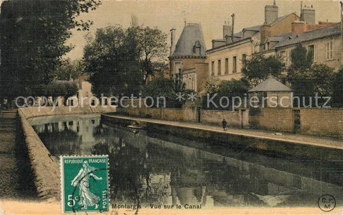 AK / Ansichtskarte Montargis Loiret Vue sur le Canal Kat. Montargis