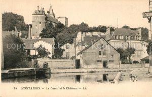 AK / Ansichtskarte Montargis Loiret Le Canal et le Chateau Kat. Montargis