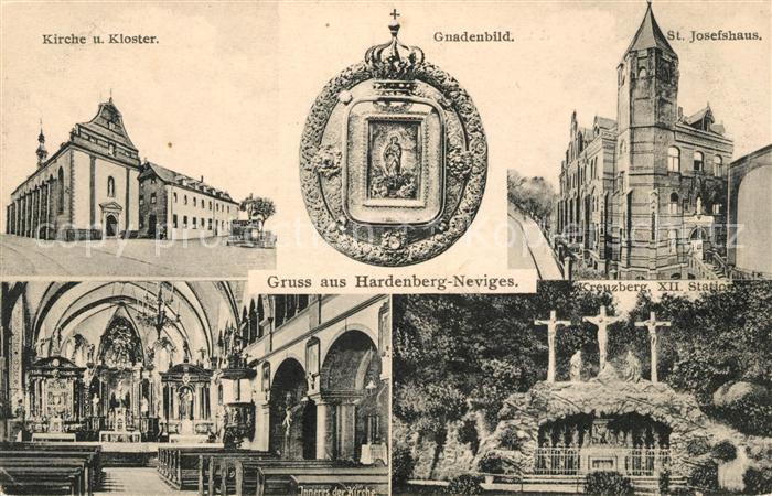 AK / Ansichtskarte Neviges Velbert St Josefshaus Kirche Kloster Gnadenbild Inneres der Kirche Kreuzberg