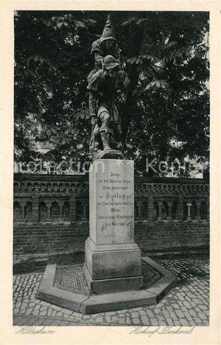 AK / Ansichtskarte Hildesheim Huckauf Denkmal Statue Kupfertiefdruck Kat. Hildesheim