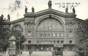AK / Ansichtskarte Paris La Gare du Nord Kat. Paris