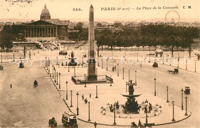 AK / Ansichtskarte Paris La Place de la Concorde Kat. Paris