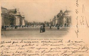 AK / Ansichtskarte Paris Avenue Alexandre III Grand et petit Palais des Beaux Arts Kat. Paris
