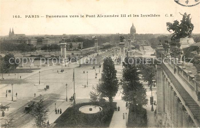 AK / Ansichtskarte Paris Panorama vers le Pont Alexandre III et les Invalides Kat. Paris