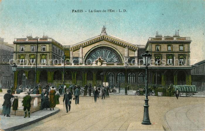 AK / Ansichtskarte Paris La Gare de l Est Kat. Paris