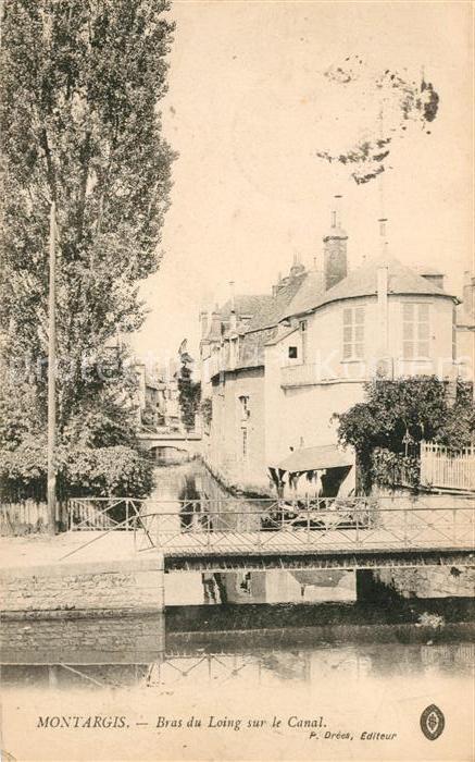 AK / Ansichtskarte Montargis Loiret Bras du Loing sur le Canal Kat. Montargis
