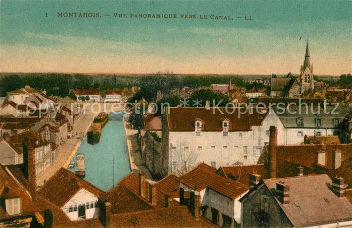 AK / Ansichtskarte Montargis Loiret Vue panoramique ver le Canal Kat. Montargis