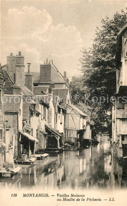 AK / Ansichtskarte Montargis Loiret Vieilles Maisons au Moulin de la Pecherie Kat. Montargis