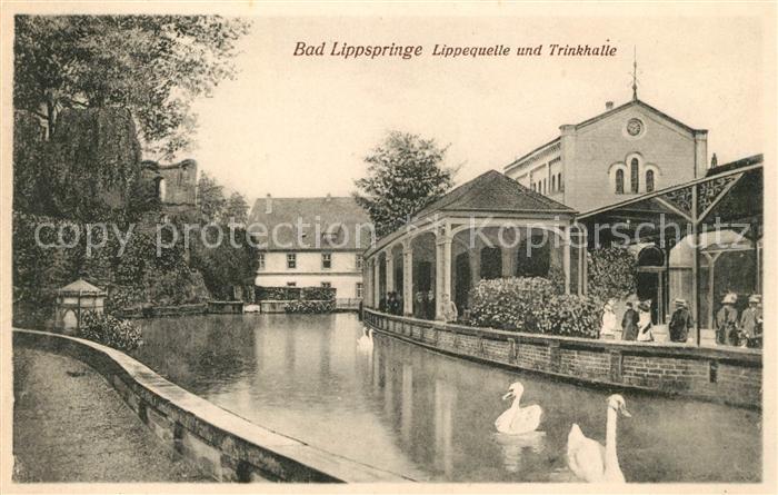 AK / Ansichtskarte Bad Lippspringe Lippequelle und Trinkhalle Kat. Bad Lippspringe