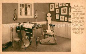 AK / Ansichtskarte Beethoven Fluegel Streichinstrumente  Kat. Persoenlichkeiten