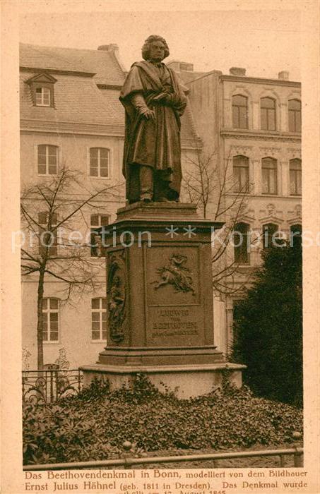 AK / Ansichtskarte Beethoven Denkmal Bonn  Kat. Persoenlichkeiten