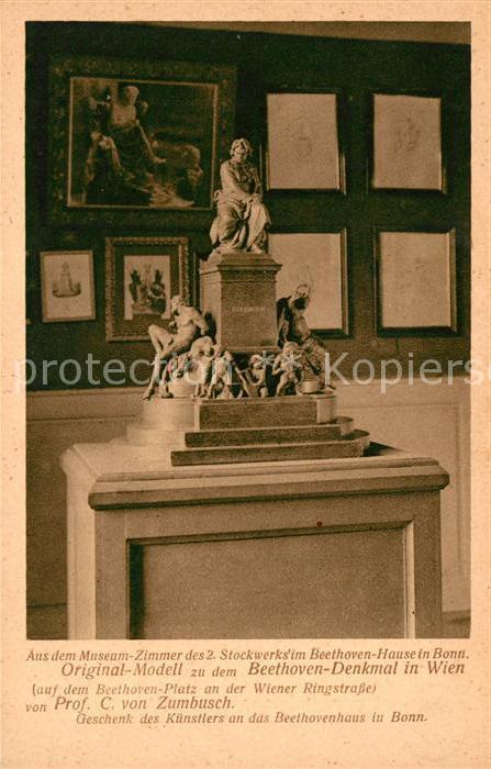 AK / Ansichtskarte Beethoven Museum Bonn Denkmal  Kat. Persoenlichkeiten