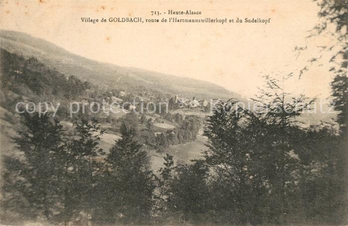 AK / Ansichtskarte Goldbach Altenbach Panorama du village Route de l Hartmannswillerkopf et du Sudelkopf Kat. Goldbach Altenbach
