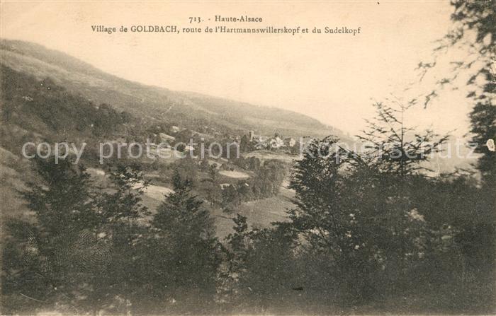 AK / Ansichtskarte Goldbach Altenbach Panorama du village Route de l Hartmannswillerskopf et du Sudelkopf Kat. Goldbach Altenbach