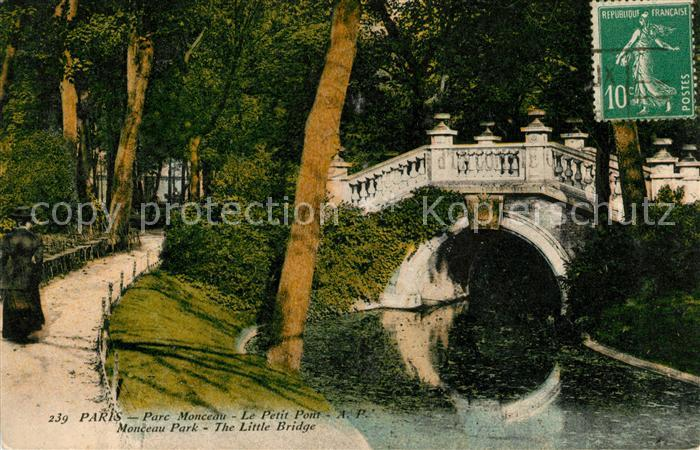 AK / Ansichtskarte Paris Parc Monceau Le Petit Pont Kat. Paris