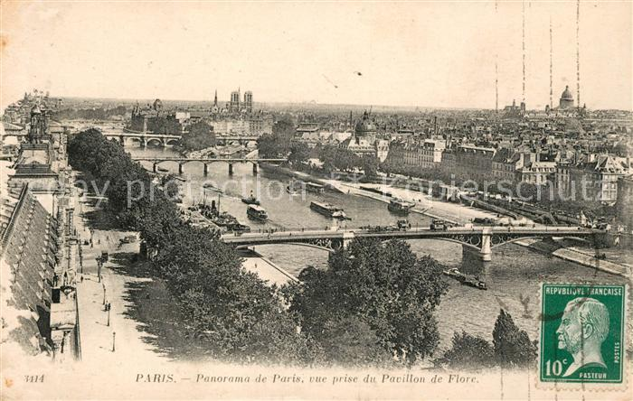 AK / Ansichtskarte Paris Panorama de paris vue prise du Pavillon de Flore Kat. Paris
